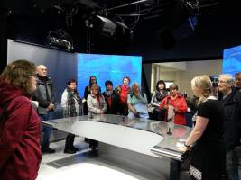 foto z exkurze v novém studiu ČT na ul. Trnkova (zdroj: RÉVA)
