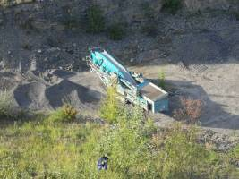 Těžební stroj v roce 2012