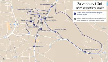 Mapa stezky