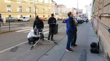 Natáčení filmu Setkání pod Brnem ul. Pekařská