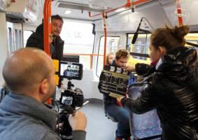 Natáčení filmu Setkání pod Brnem v MHD