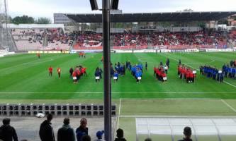 Nástup mužstev na stadionu Srbská (foto: SK Líšeň)